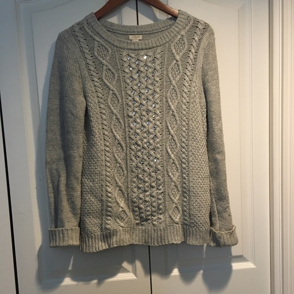 J.Crew Women's Sweater with Mirrored Stone size S